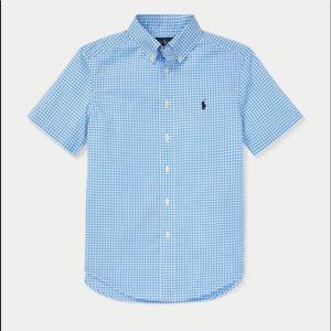 NWT Ralph Lauren Gingham Cotton Poplin Shirt Sz. L